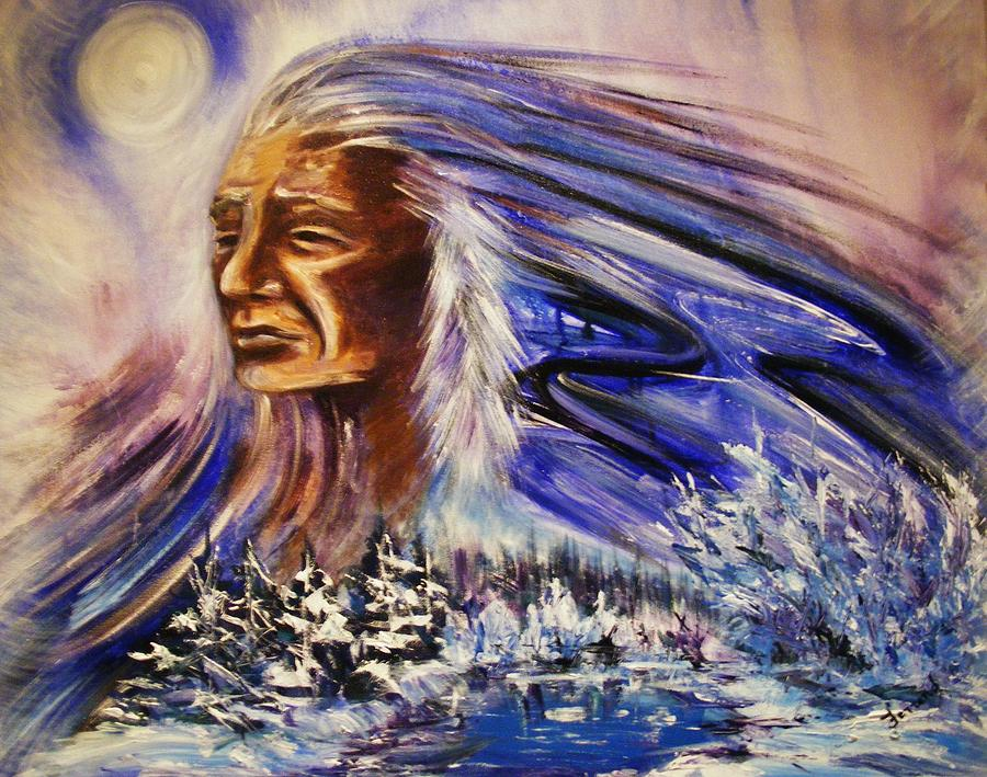 Great Father  Winter Painting by Karen Ferrand Carroll