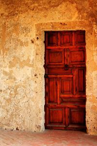 Heavy Wooden Door Photograph by Sarah Broadmeadow-Thomas