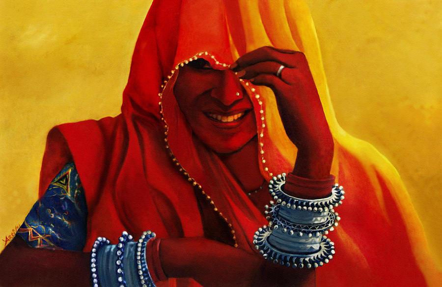 Alwar Girl Wallpaper Indian Woman In Veil By Arti Chauhan