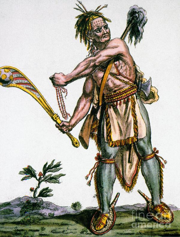 Iroquois Warrior Photograph by Granger
