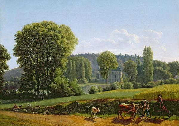 landscape with animals painting