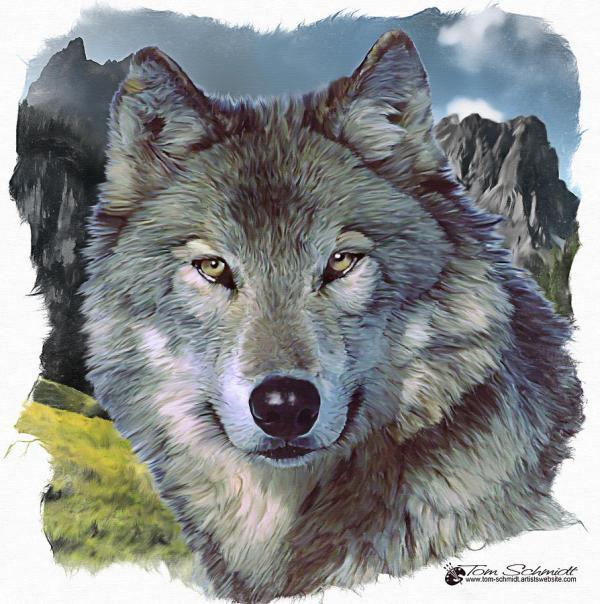 Digital Art Lone Wolf