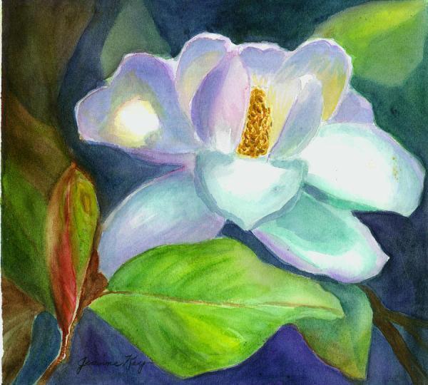 Magnolia Jeanne Kay Juhos - Painting Fine Art Prints And Posters