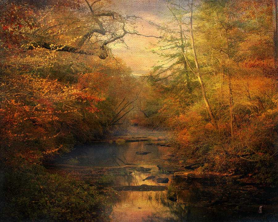 Fall In The Smokies Wallpaper Misty Autumn Morning Photograph By Jai Johnson