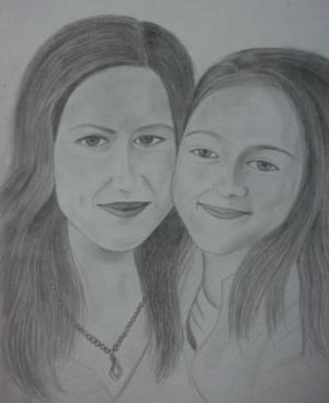 daughter mom drawing mohan ashish drawings portrait 6th january which uploaded