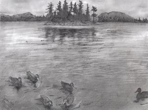 lake drawing howell samantha moosehead drawings landscapes 13th december which uploaded