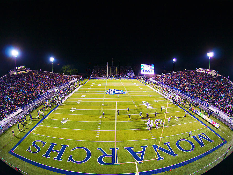 Odu Football At Foreman Field Photograph by Old Dominion University