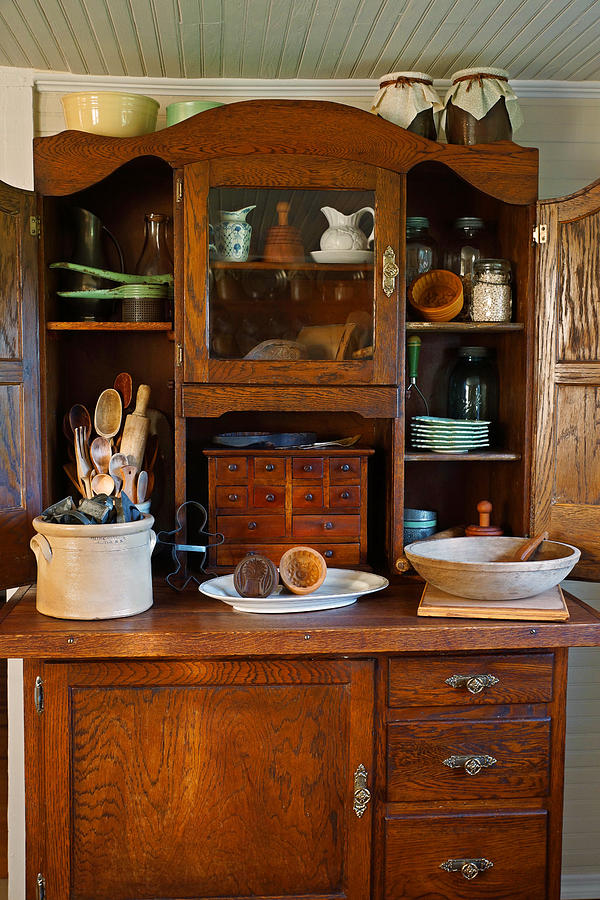 Old Bakers Cabinet Photograph by Carmen Del Valle