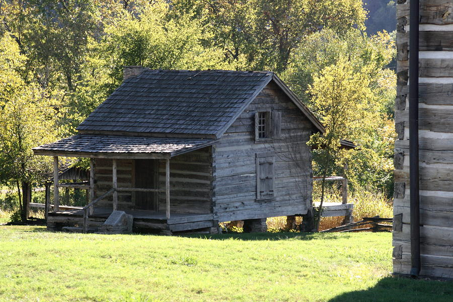 Old Log Cabin Photograph by CGHepburn Scenic Photos