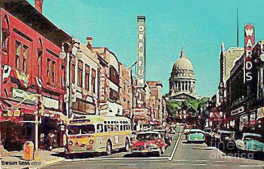 Orpheum Theatre In Madison Wi In The 1950w Photograph by