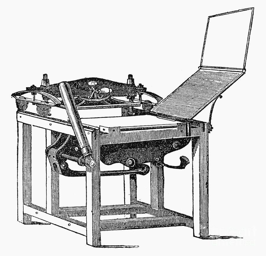 Printing Press, 1813 Photograph by Granger