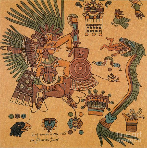 Aztec Quetzalcoatl Feathered Serpent