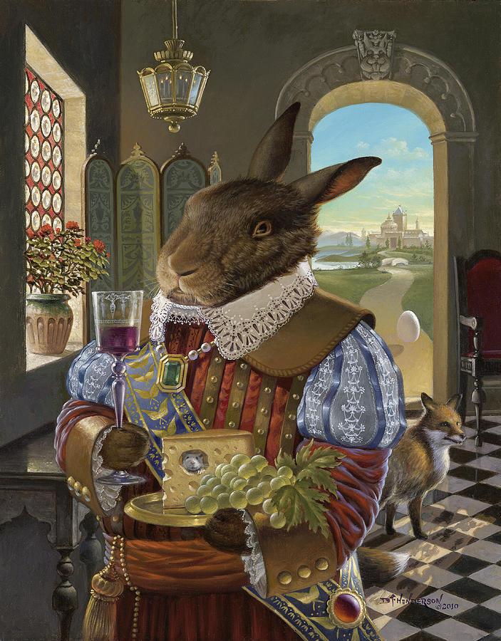 Renaissance Rabbit Painting by David Henderson