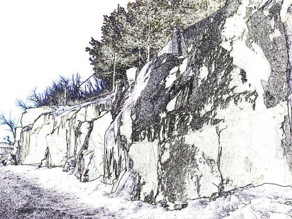rocky landscape painting denny