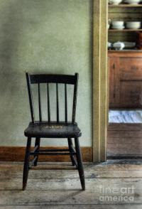 Simple Antique Dining Chair In An Old House Photograph by ...