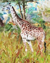 African Giraffe Art
