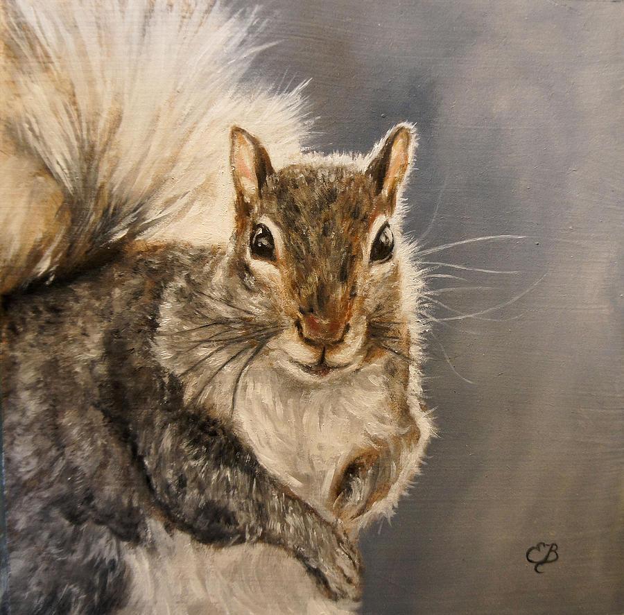 Dimensions Of Iphone X Wallpaper Squirrel Painting By Elizabeth Barrett