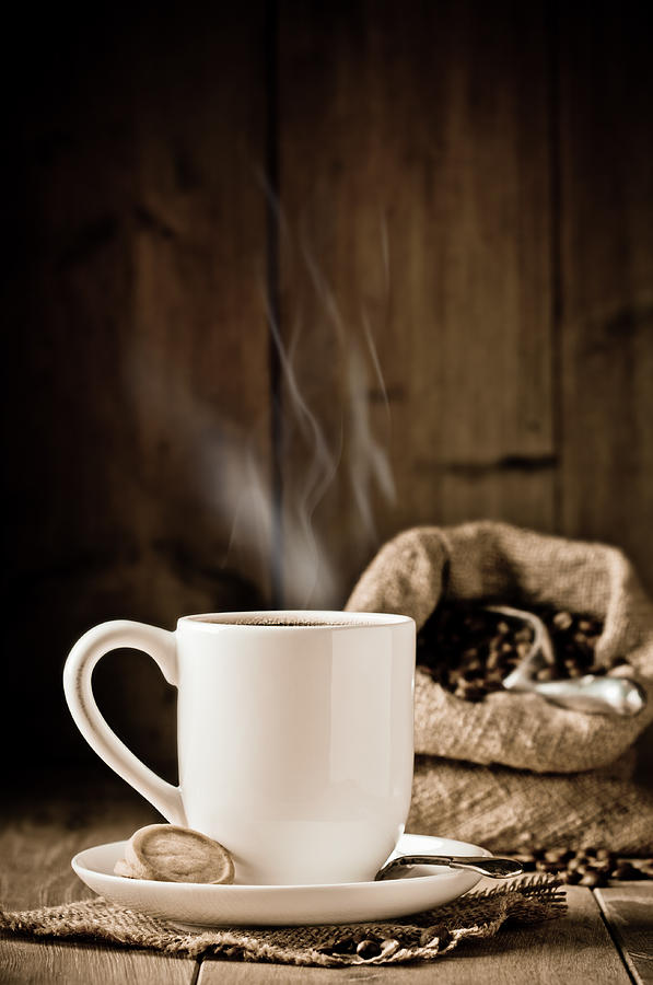 Steaming Coffee Photograph by Amanda Elwell