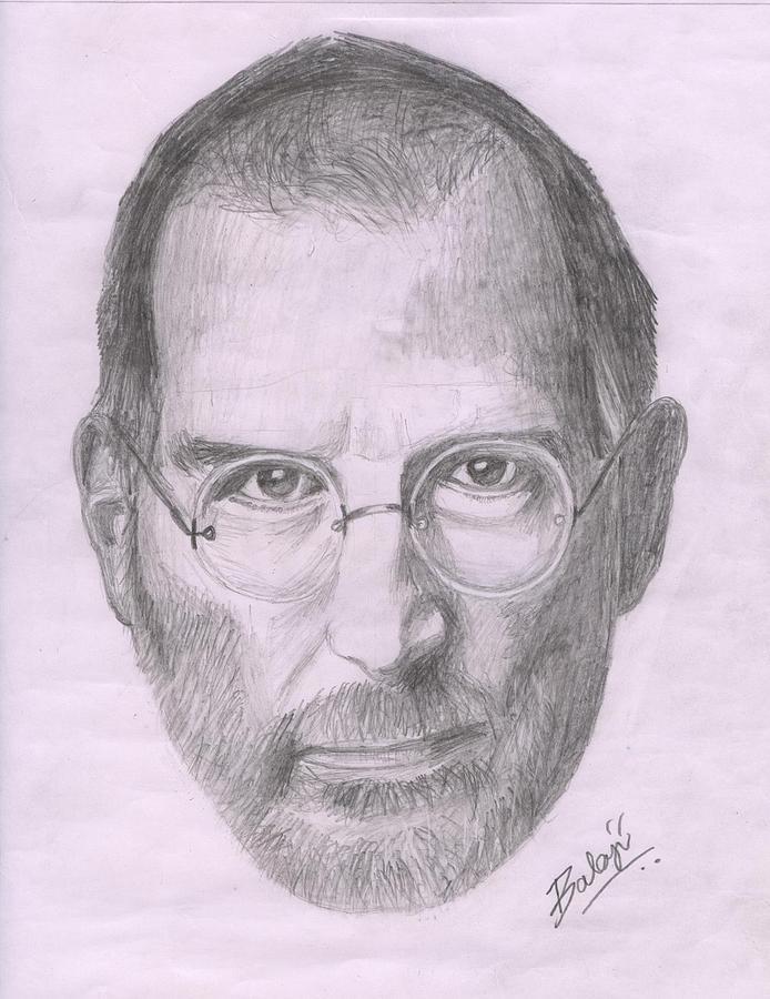Steve Jobs Drawing : steve, drawing, Steve, Drawing, Balaji, Solai
