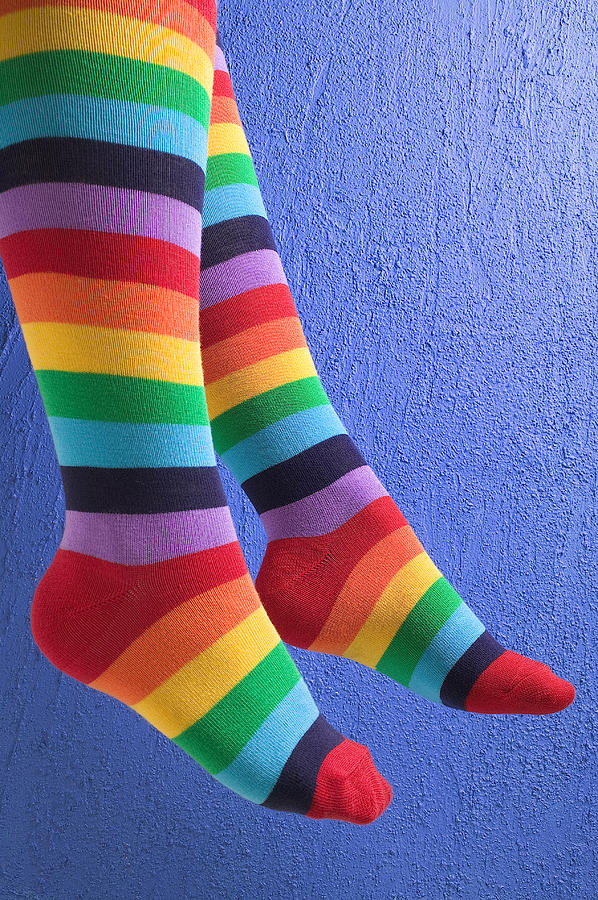 Striped Socks Photograph by Garry Gay