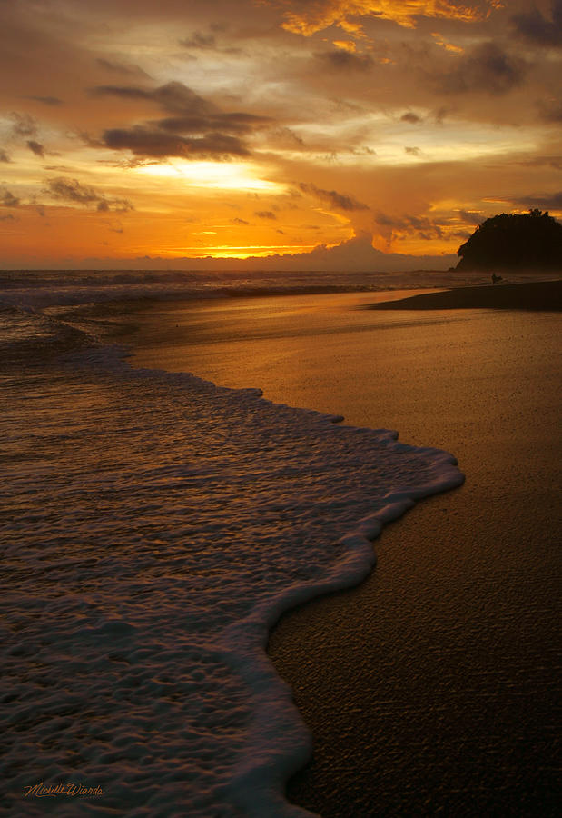 Sunset Surf Playa Hermosa Costa Rica Photograph by