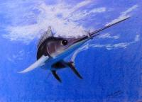 sword Fish Painting by David Hawkes