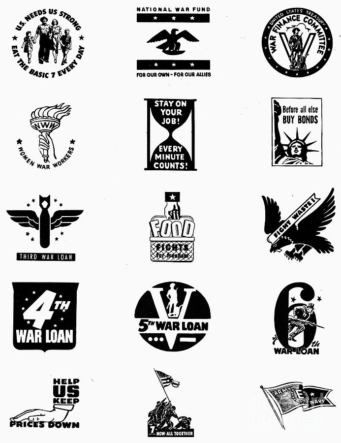 Symbols: World War II Photograph by Granger