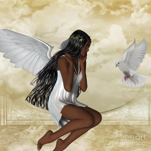 Angel And Dove Kerry Rockwood White