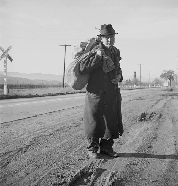 Great Depression. Itinerant Worker Everett
