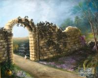 The Stone Wall Painting by Patricia Lang