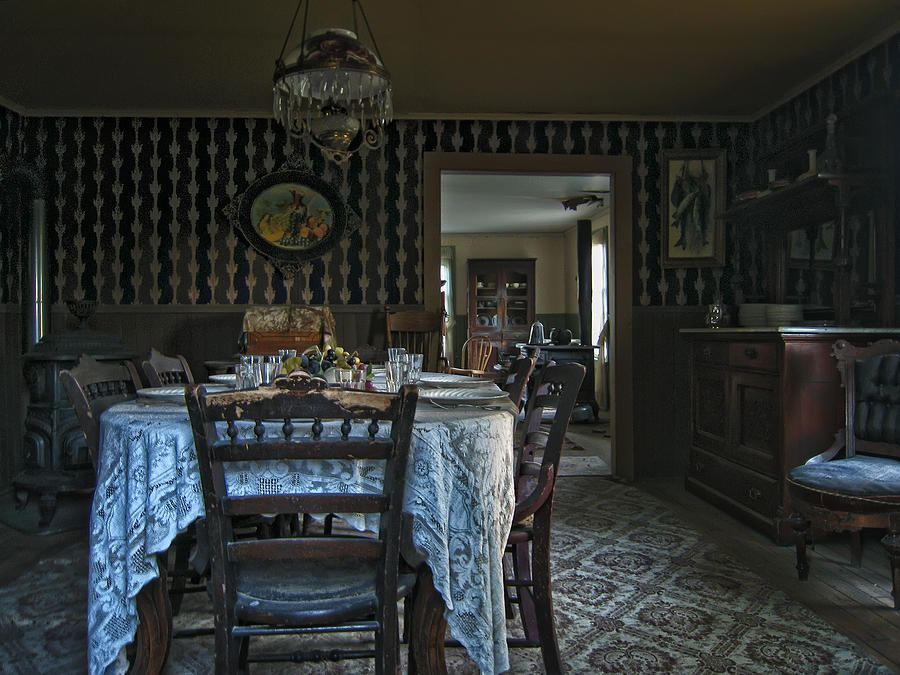 Victorian Dining Room No 2  Montana Photograph by Daniel