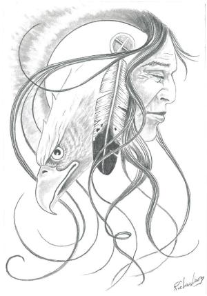 native american drawings drawing vision dreamcatcher pencil tod horse dream richardson indian sketches dessin tattoo tattoos eagle sketch headdress coloriage