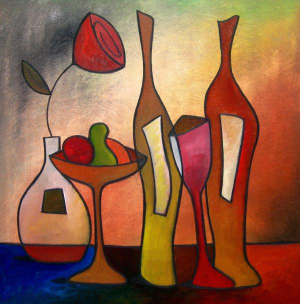 Abstract Wine Art Painting