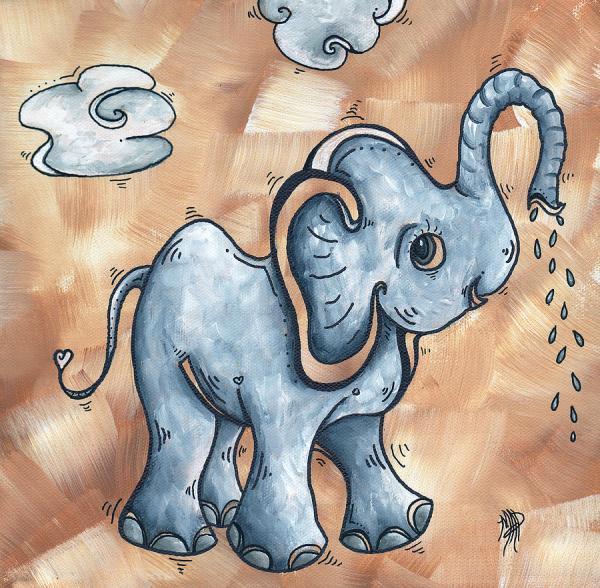 Whimsical Elephant Paintings