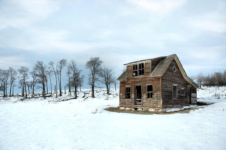 Winter Farmhouse Photograph By Brian Ewing