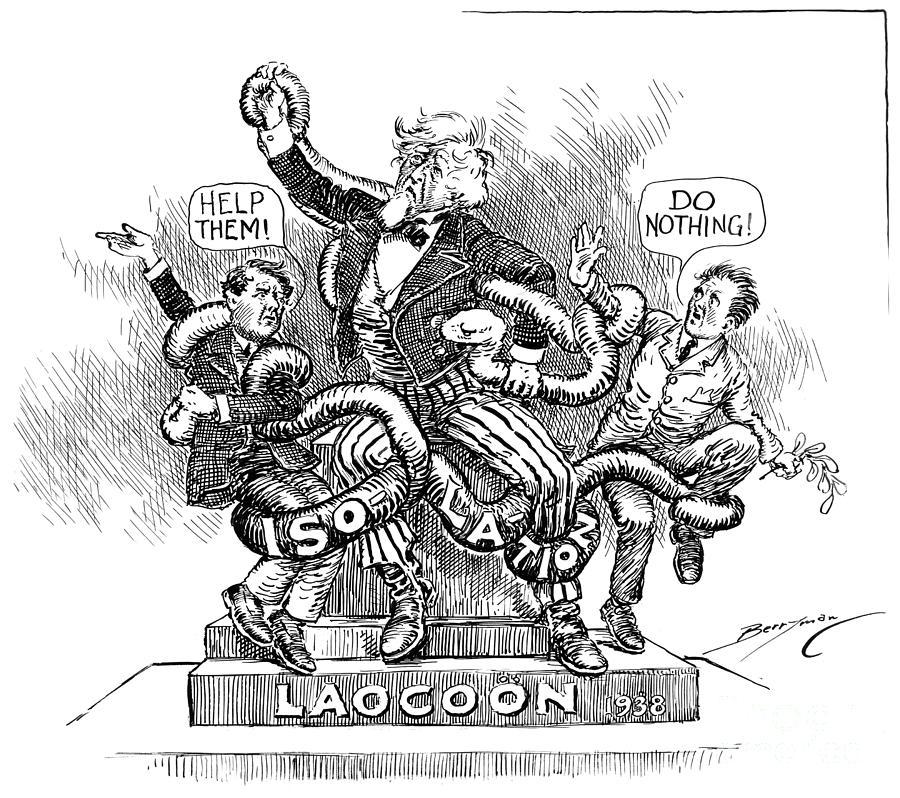 World War II: Cartoon, 1938 Photograph by Granger