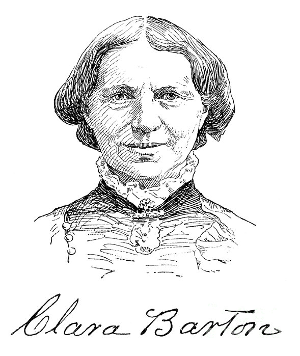 Clara Barton (1821-1912) Print by Granger