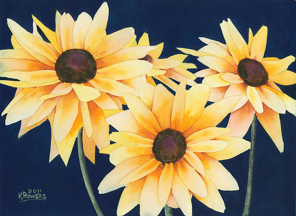 Black Eyed Susans by Ken Powers