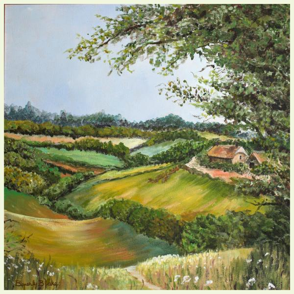 English Countryside Painting  - English Countryside Fine Art Print
