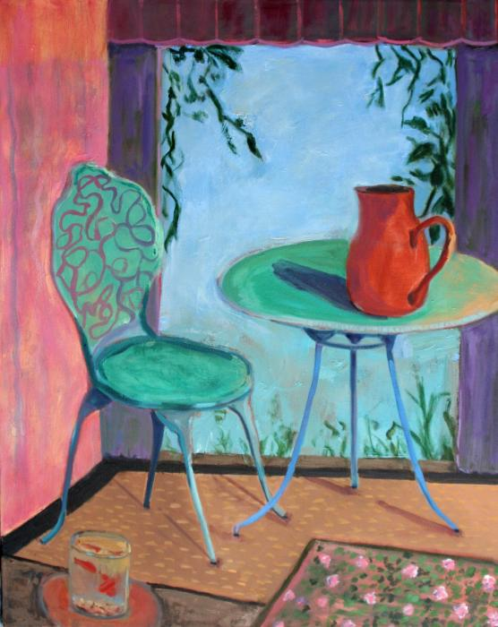 Goldfish With Blue Table And Chair  After Matisse by