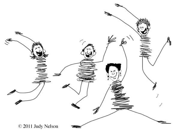 Happy Team Members by Judy Nelson
