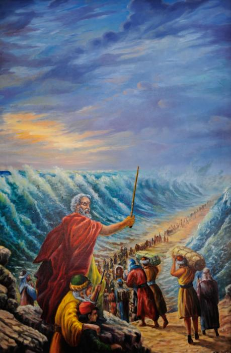 Moses At The Red Sea Painting