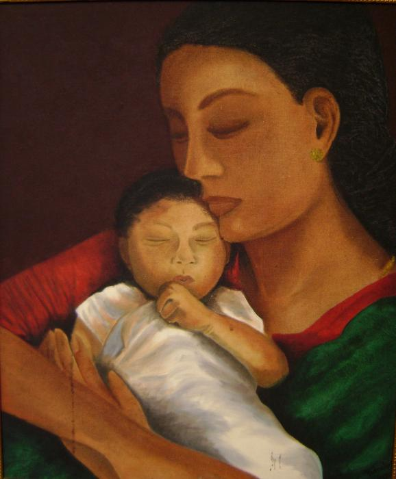 Image result for painting of a child