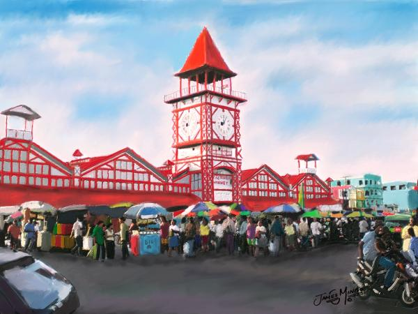 Georgetown Guyana: The municipal markets -commentary