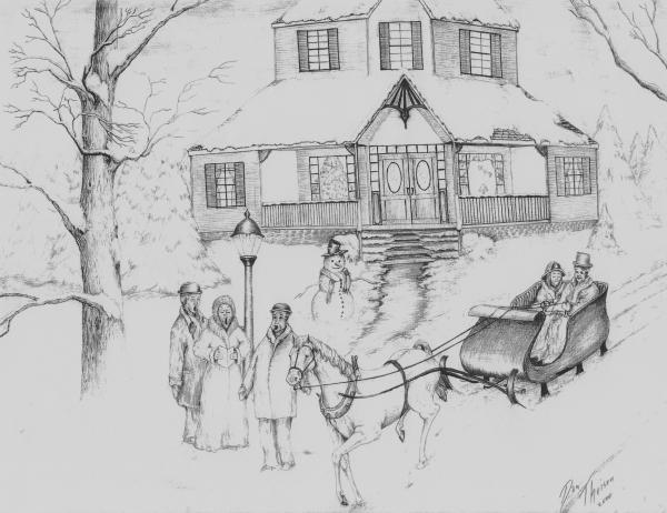blair serna: Christmas Drawing Lessons