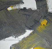 Yellow And Black Abstract 1