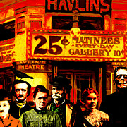 Featured - Frank and Friends Goes To The Vintage Havlins Theatre 25 Cents Matinees Everyday 20140812 square by Wingsdomain Art and Photography