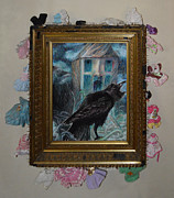 Two Crows - Framed