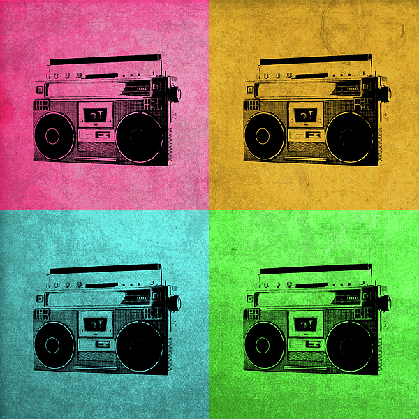 boombox stereo vintage pop