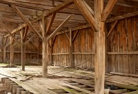 Old Barn Interior by Storm Smith